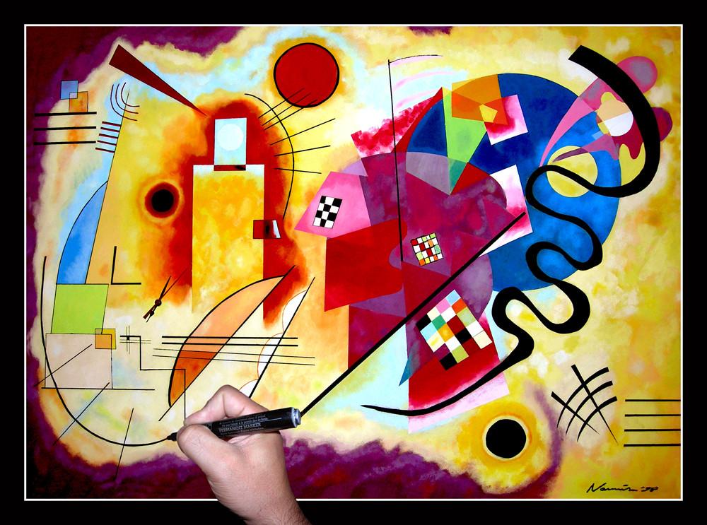 quadro Kandinskij giallo rosso blu