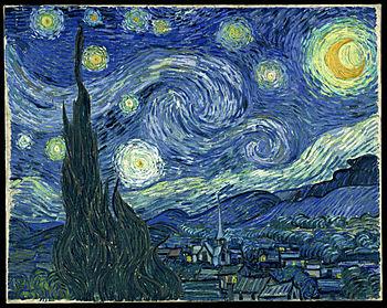 quadro notte stellata