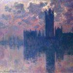 quadro Monet Le Parlement soleil